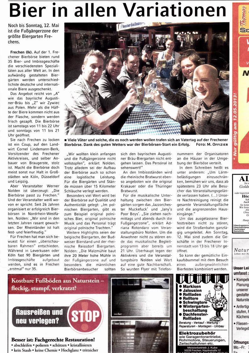 Bierfest Sonntagspost 110513 Page 1